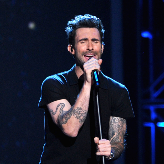 Musician Adam Levine of Maroon 5 performs onstage at The GRAMMY Nominations Concert Live!! held at Bridgestone Arena on December 5, 2012 in Nashville, Tennessee.
