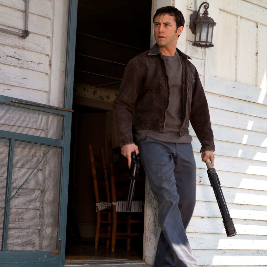 "Joseph Gordon-Levitt as ""Joe"" in TriStar Pictures, Film District, and End Game Entertainment's action thriller LOOPER."