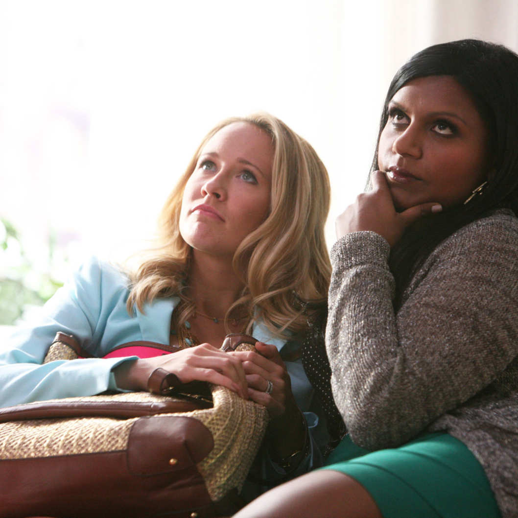 "THE MINDY PROJECT: Gwen (Anna Camp, L) and Mindy listen to a pep talk on an all-new ""Danny Castellano is my Gynecologist"" episode of THE MINDY PROJECT airing Tuesday, Nov. 13(9:30-10:00 PM ET/PT) on FOX. ©2012 Fox Broadcasting Co.  Cr: Beth Dubber/FOX"