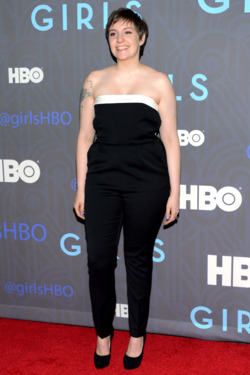 "Lena Dunham attends the premiere of ""Girls"" Season 2 hosted by HBO at NYU Skirball Center on January 9, 2013 in New York City."