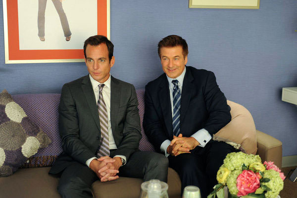 "30 ROCK -- ""Game Over"" Episode 709 -- Pictured: (l-r) Will Arnett as Devon Banks, Alec Baldwin as Jack Donaghy"
