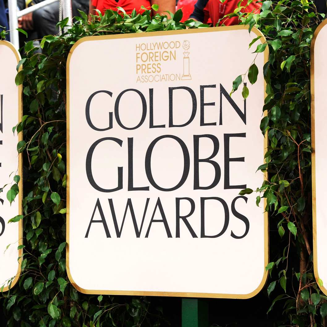 Signage displayed at the 69th Annual Golden Globe Awards held at the Beverly Hilton Hotel on January 15, 2012 in Beverly Hills, California.
