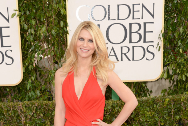 Actress Claire Danes arrives at the 70th Annual Golden Globe Awards held at The Beverly Hilton Hotel on January 13, 2013 in Beverly Hills, California.