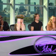 AMERICAN IDOL: Pictured L-R: Randy Jackson, Nicki Minaj, Keith Urban and Mariah Carey at the Chicago auditions of AMERICAN IDOL airing on the two-night premiere Wednesday, Jan. 16 (8:00-10:00 PM ET/PT) and Thursday, Jan. 17 (8:00-10:00 PM ET/PT).