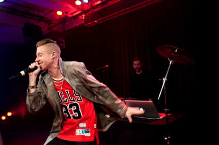 Seattle based rapper Macklemore gave a live performance for the YouTube Presents program on Wednesday evening.