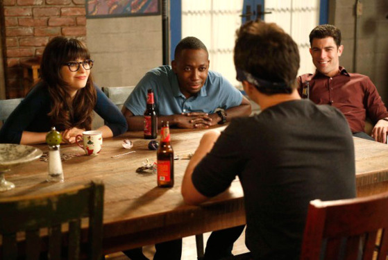 NEW GIRL:  L-R:  Jess (