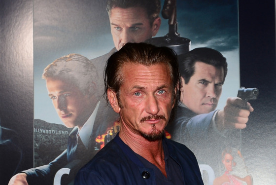 "Actor Sean Penn poses on arrival for the Los Angeles World Premiere of the film ""Gangster Squad"" at Grauman's Chinese Theater  on January 7, 2013 in Hollywood,California.  The film opens nationwide on January 11. AFP PHOTO / Frederic J. BROWN        (Photo credit should read FREDERIC J. BROWN/AFP/Getty Images)"