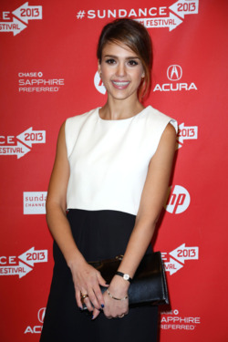 "Actress Jessica Alba attends the ""A.C.O.D"" Premiere during the 2013 Sundance Film Festival at Eccles Center Theatre on January 23, 2013 in Park City, Utah."