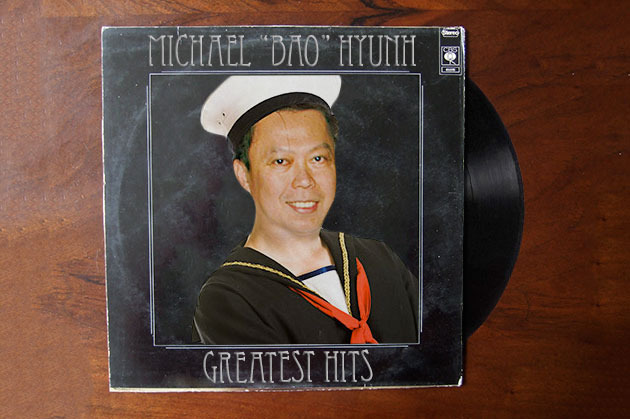 "Classic Michael ""Bao"" Hyunh on vinyl, from his <a href=""http://newyork.grubstreet.com/2011/03/should_michael_baos_next_resta.html"">""Stern & Bao""</a> Era."