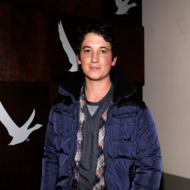 "PARK CITY, UT - JANUARY 18:  Actor Miles Teller attends Grey Goose Blue Door ""The Spectacular Now"" Party on January 18, 2013 in Park City, Utah.  (Photo by Jamie McCarthy/Getty Images for Grey Goose)"