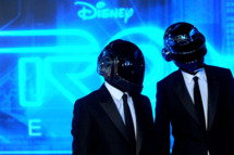 Daft Punk arrives at Walt Disney's 'TRON: Legacy' World Premiere held at the El Capitan Theatre on December 11, 2010 in Los Angeles, California.
