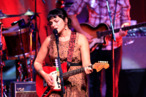 US pianist, singer and songwriter Norah Jones performs on stage at Congress Palace in Madrid, Spain, 23 September 2012.