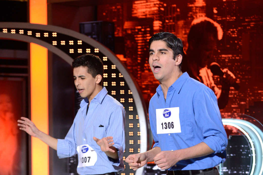 AMERICAN IDOL: San Antonio Auditions: Contestants Derek and David Baceroti on AMERICAN IDOL airing Wednesday, Jan. 30 (8:00-10:00 PM ET/PT) on FOX. ©2013 Fox Broadcasting Co. CR: Michael Becker / FOX