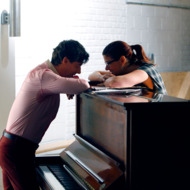 "SMASH -- ""The Dramaturg"" Episode 203 -- Pictured: (l-r) Christian Borle as Tom Levitt, Debra Messing as Julia Houston"