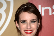 Actress Emma Roberts attends the 14th Annual Warner Bros. And InStyle Golden Globe Awards After Party held at the Oasis Courtyard at the Beverly Hilton Hotel on January 13, 2013 in Beverly Hills, California.