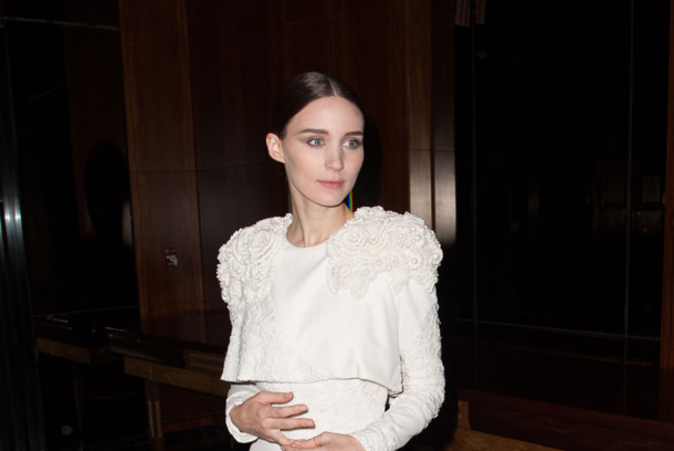 "Rooney Mara attends the premiere after party for ""Side Effects"" hosted by Open Road with The Cinema Society and Michael Kors at Stone Rose Lounge on January 31, 2013 in New York City."