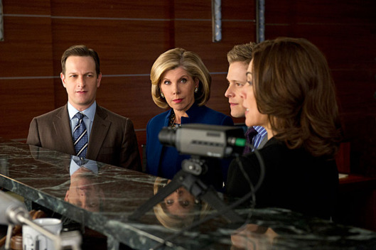 """Red Team/Blue Team""-- (L to R) Things get tense when Will (Josh Charles) and Diane (Christine Baranski) face off against Cary (Matt Czuchry) and Alicia (Julianna Margulies) after a client asks the firm to go through a mock trial to test their case, on THE GOOD WIFE, Sunday Feb. 17 (9:00-10:00 PM, ET/PT) on the CBS Television Network"