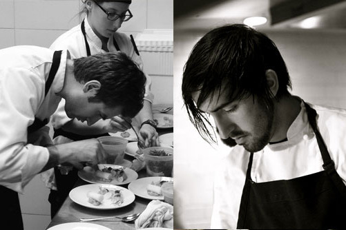 Two chefs, nine courses.