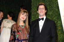 Comedian Andy Samberg (R) and Joanna Newsom arrive at the 2013 Vanity Fair Oscar Party hosted by Graydon Carter at Sunset Tower on February 24, 2013 in West Hollywood, California.