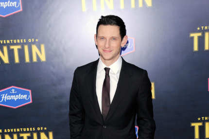 "Actor Jamie Bell poses for a photo at the ""The Adventures of TinTin"" New York premiere at the Ziegfeld Theatre on December 11, 2011 in New York City."