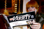 A women reads a magazines at the Variety Magazine's &quot;Women In Showbiz&quot; at the Beverly Hills Hotel on November 16, 2004 in Beverly Hills California.