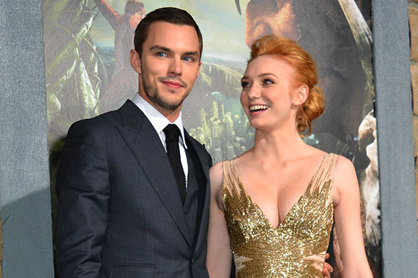 "Actors  Nicholas Hoult (L) and Eleanor Tomlinson attend the premiere of New Line Cinema's ""Jack The Giant Slayer"" at TCL Chinese Theatre on February 26, 2013 in Hollywood, California."
