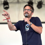 Special Guest Comedian Marc Maron performs on the Broadway St. stage during Day 1 of FYF Fest 2012 at Los Angeles State Historic Park on September 1, 2012 in Los Angeles, California.
