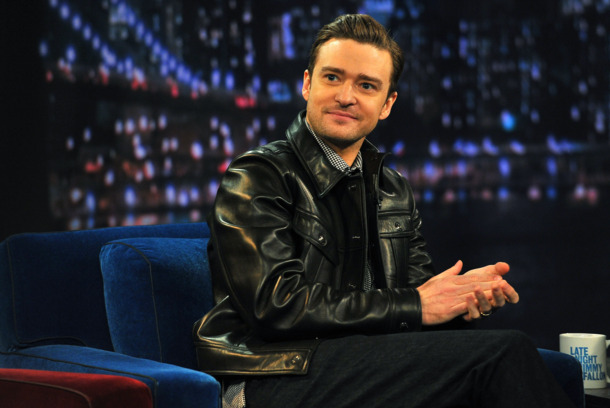 Justin Timberlake visits &quot;Late Night With Jimmy Fallon&quot; at Rockefeller Center on March 11, 2013 in New York City.