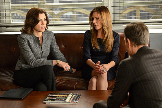 """Invitation to an Inquest"" – Alicia (Julianna Margulies, left) and Will – (Josh Charles, right) latest case brings them to an inquest at the coroner's office, where they are hindered by a bizarre rule limiting their questioning to three per witness, on THE GOOD WIFE, Sunday March 17 (9:00-10:00 PM, ET/PT) on the CBS Television Network Network. Also pictured:"