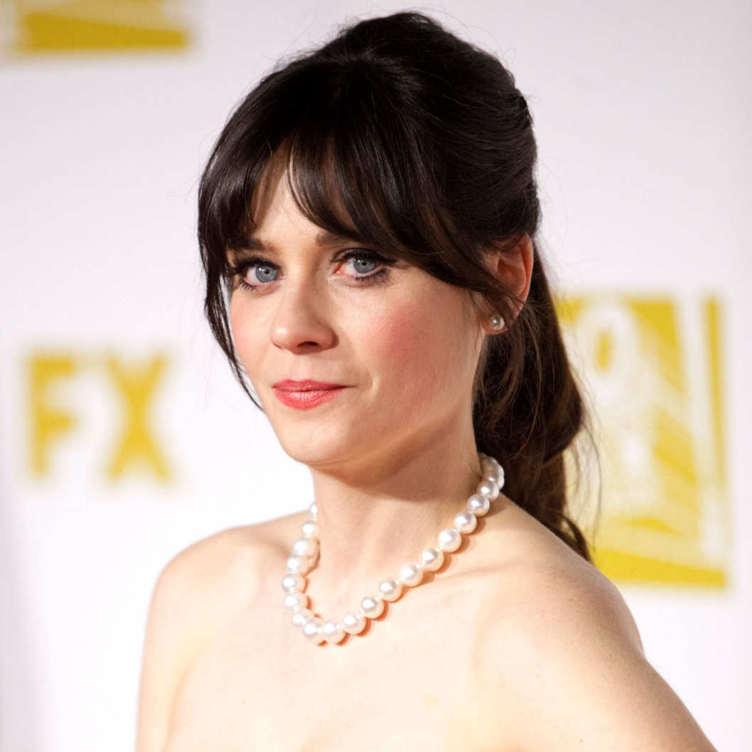 Actress Zooey Deschanel attends the Fox Searchlight 2013 Golden Globe Awards Party on January 13, 2013 in Beverly Hills, California.