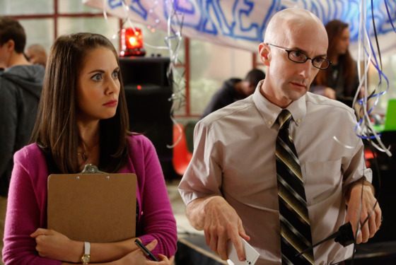 "COMMUNITY -- ""Economics Of Marine Biology"" Episode 406 -- Pictured: (l-r) Alison Brie as Annie, Jim Rash as Dean Pelton"