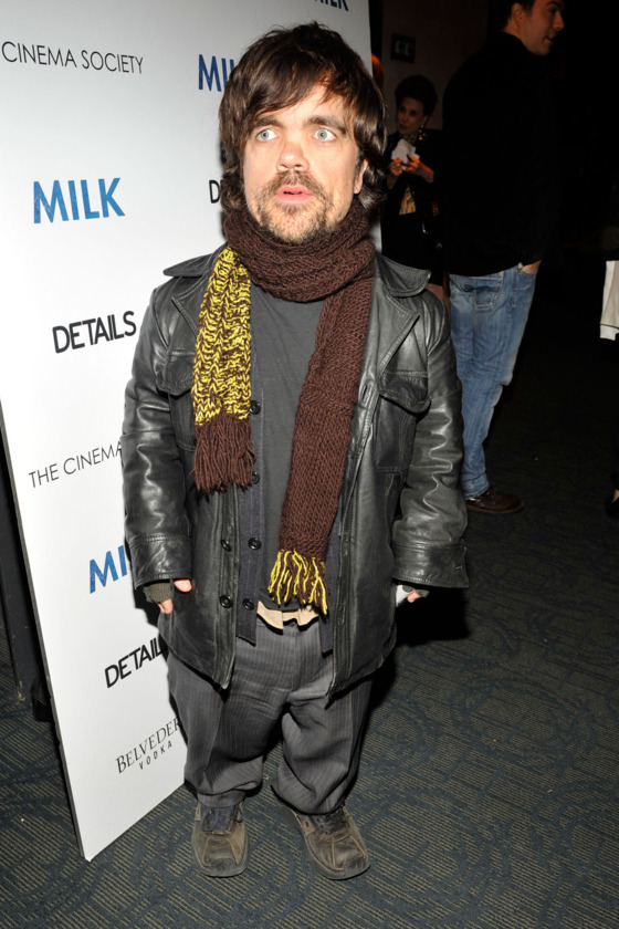 "Peter Dinklage==THE CINEMA SOCIETY & DETAILS host the after party for ""MILK""==Bowery Hotel, NYC==November 18, 2008==© Patrick McMullan==Photo - PATRICK MCMULLAN/PatrickMcMullan.com===="