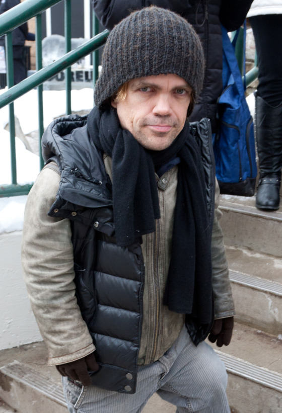 PARK CITY, UT - JANUARY 21: Actor Peter Dinklage is seen around Sundance Film Festival on January 21, 2011 in Park City, Utah.