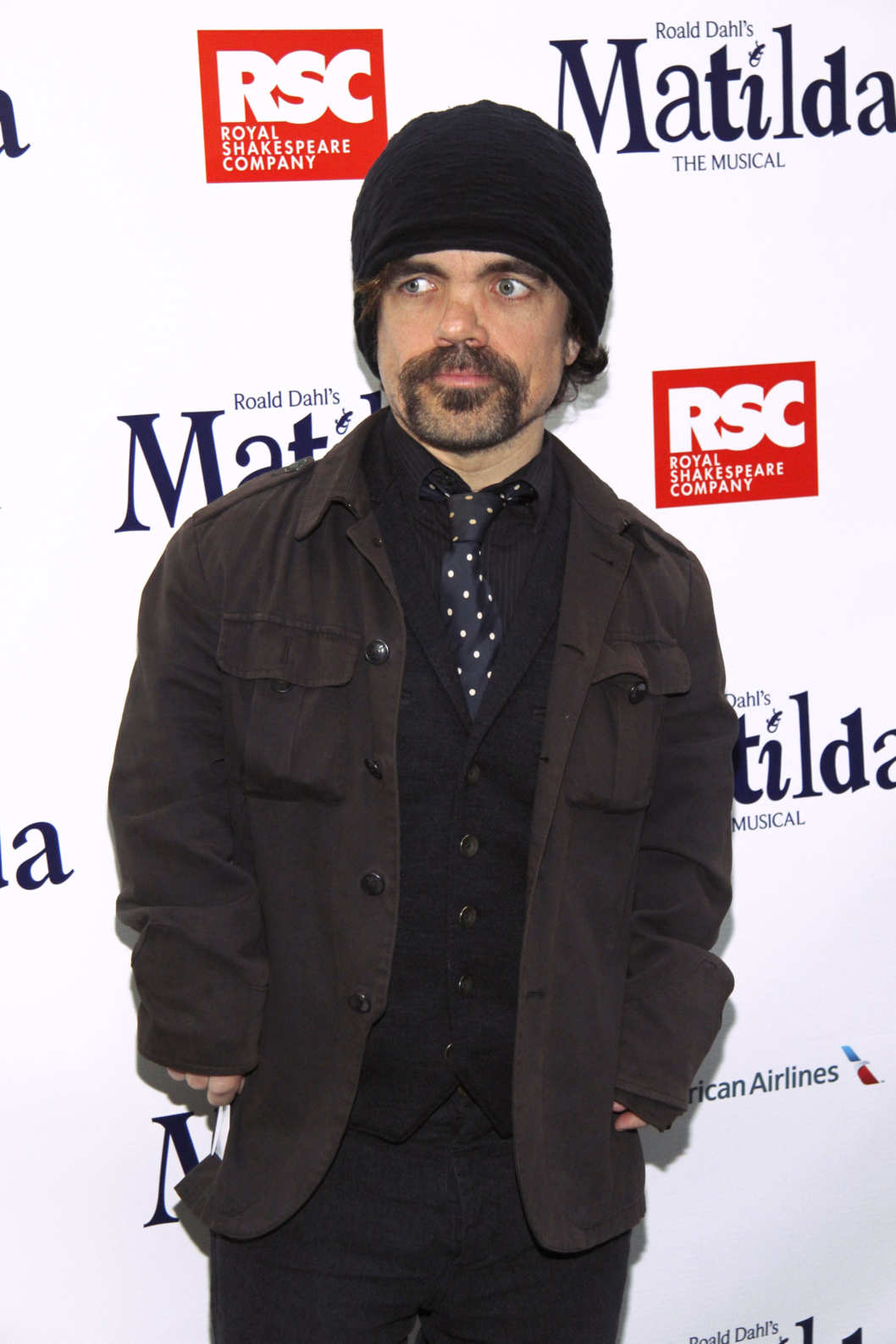 Peter Dinklage==Opening Night for Matilda The Musical==Shubert Theatre, NY==April 11, 2013.