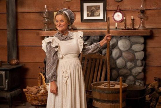 "PARKS AND RECREATION -- ""Article Two"" Episode 519 -- Pictured: Amy Poehler as Leslie Knope -- (Photo by: Colleen Hayes/NBC)"
