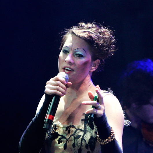 NEW YORK, NY - MAY 03:  Singer Amanda Palmer performs with Jherek Bischoff during the 2012 Crossing Brooklyn Ferry Festival at the Brooklyn Academy of Music on May 3, 2012 in the Brooklyn borough of New York City.  (Photo by Mike Lawrie/Getty Images)