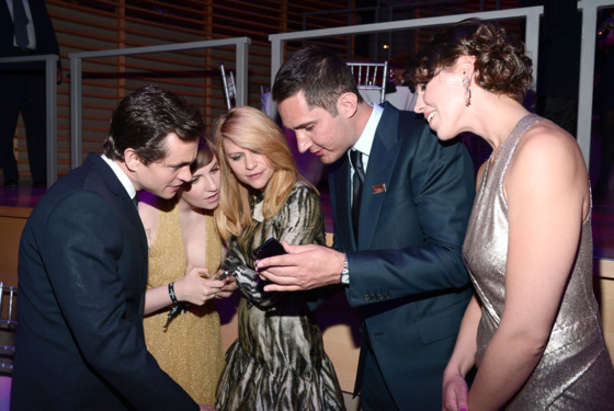 Hugh Dancy, Lena Dunham, Claire Danes, Kevin Systrom, Nicole Schuetz== TIME 100 GALA: TIME'S 100 MOST INFLUENTIAL PEOPLE IN THE WORLD== Jazz at Lincoln Center, NYC== April 23, 2013== ©Patrick McMullan== Photo - PATRICK MCMULLAN/PatrickMcMullan.com== ==