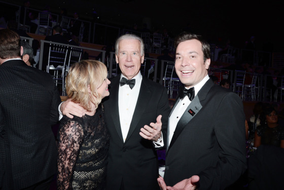 Amy Poehler, Vice President Vice President Joe Biden, Jimmy Fallon==TIME 100 GALA: TIME'S 100 MOST INFLUENTIAL PEOPLE IN THE WORLD==Jazz at Lincoln Center, NYC==April 23, 2013==©Patrick McMullan==Photo - PATRICK MCMULLAN/PatrickMcMullan.com== ==