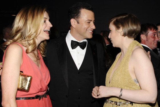 Molly McNearney, Jimmy Kimmel, Lena Dunham, Robin Dearden==TIME 100 GALA: TIME'S 100 MOST INFLUENTIAL PEOPLE IN THE WORLD==Jazz at Lincoln Center, NYC==April 23, 2013==©Patrick McMullan==Photo - CLINT SPAULDING/PatrickMcMullan.com====