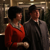 Sylvia Rosen (Linda Cardellini) and Arnold Rosen (Brian Markinson) - Mad Men - Season 6, Episode 5 - Photo Credit: Michael Yarish/AMC