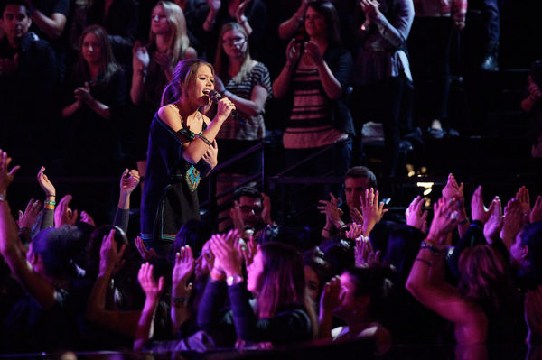 "THE VOICE -- Episode 413A ""Live Show"" -- Pictured: Caroline Glaser -- (Photo by: Trae Patton/NBC)"