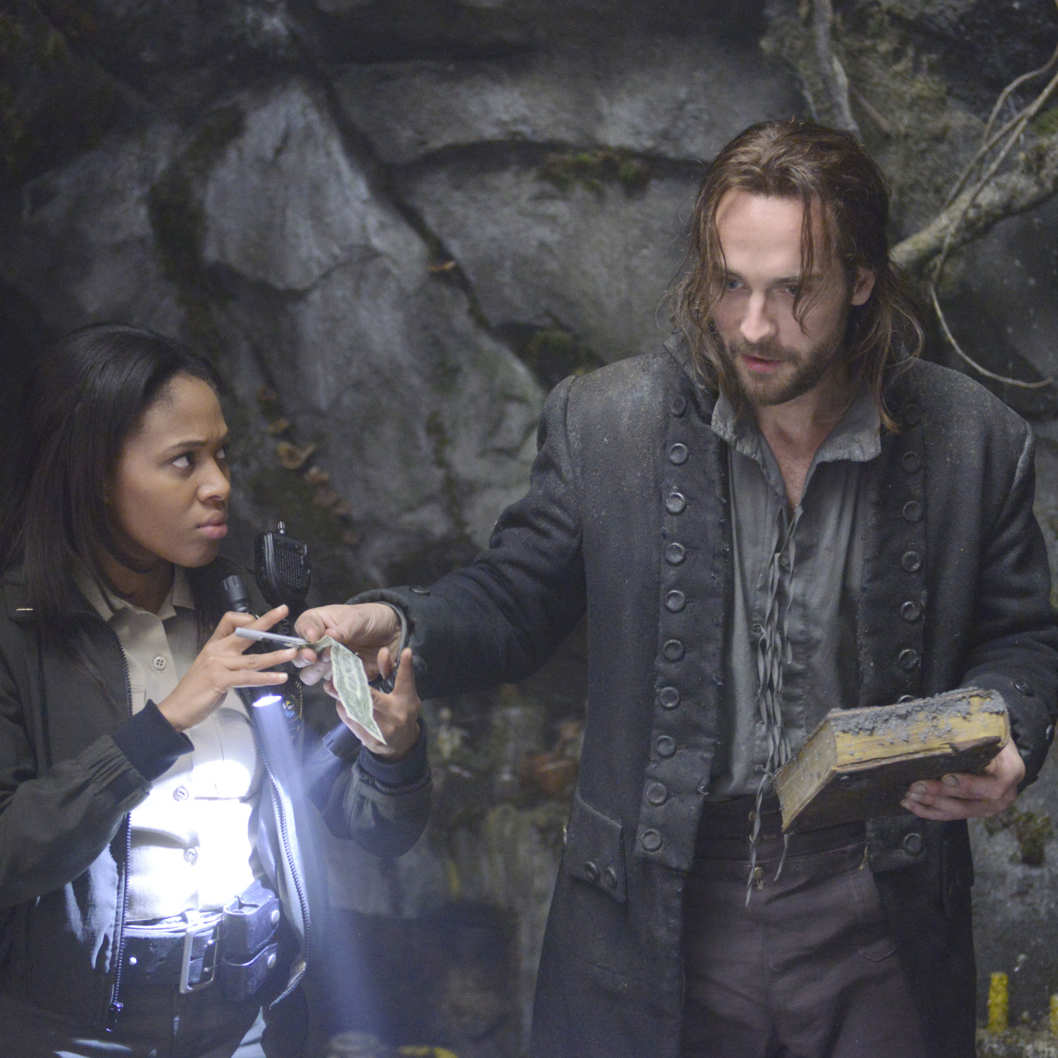 SLEEPY HOLLOW: A thrilling new action-adventure drama based on a modern-day retelling of Washington Irving's classic, Ichabod Crane wakes up from the throes of death 250 years in the future premiering this fall on FOX. Pictured L-R: Nicole Beharie and Tom Mison. ?2013 Fox Broadcasting Co. Cr: Brownie Harris/FOX