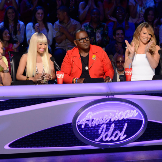 AMERICAN IDOL:` L-R: Keith Urban, Nicki Minaj, Randy Jackson and Maria Carey. CR: Michael Becker / FOX. Copyright: FOX.