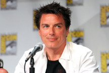 "Actor John Barrowman speaks at Starz ""Torchwood"" Panel during Comic-Con 2011 on July 22, 2011 in San Diego, California."