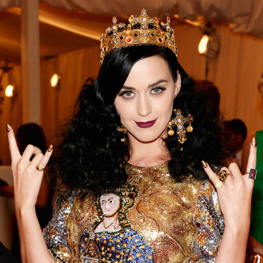 "NEW YORK, NY - MAY 06:  Katy Perry attends the Costume Institute Gala for the ""PUNK: Chaos to Couture"" exhibition at the Metropolitan Museum of Art on May 6, 2013 in New York City.  (Photo by Dimitrios Kambouris/Getty Images)"