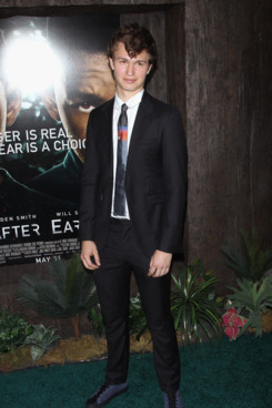 "NEW YORK, NY - MAY 29: Ansel Elgort attends the ""After Earth"" premiere at the Ziegfeld Theater on May 29, 2013 in New York City.  (Photo by Jim Spellman/WireImage)"