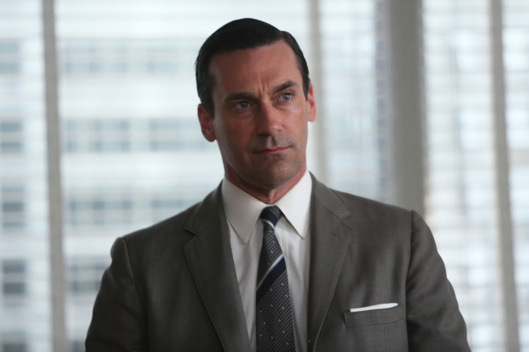 Don Draper (Jon Hamm) - Mad Man _ Season 6, Episode 10 _ 'A Tale of Two Cities' - Photo Credit: Jamie Trueblood/AMC