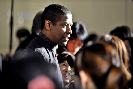 Actor Denzel Washington is interviewed by the media at the 'Flight' Japan Premiere at Marunouchi Piccadilly on February 21, 2013 in Tokyo, Japan. The film will open on March 1 in Japan.