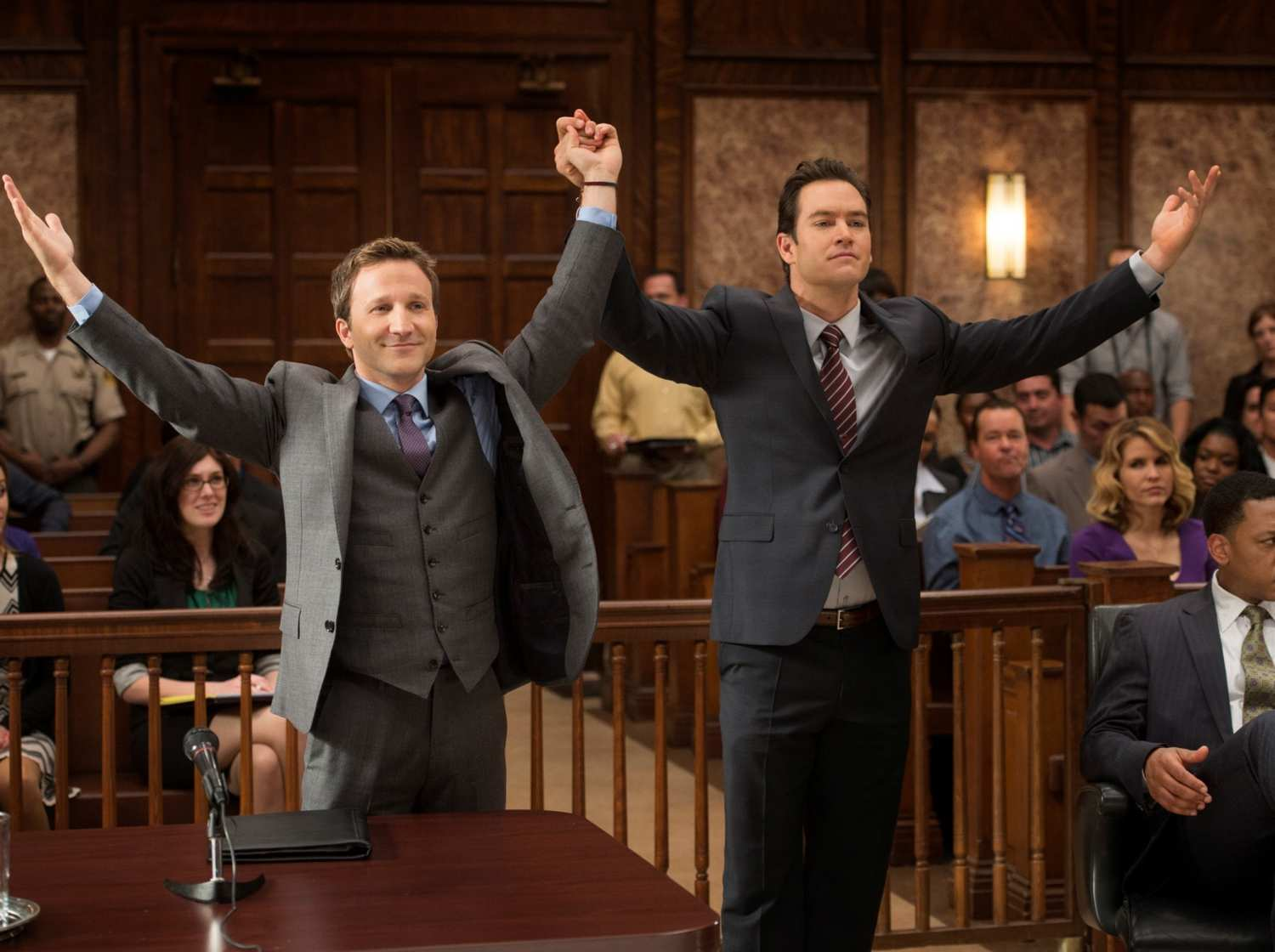 Franklin n Bash like figure skaters in the courtroom