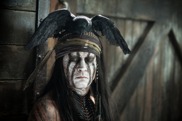 """THE LONE RANGER""Johnny Depp as TontoPh: Peter Mountain©Disney Enterprises, Inc. and Jerry Bruckheimer Inc.  All"